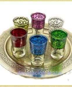 Teteras, vasos, azucareros, Bandejas Marroquíes
