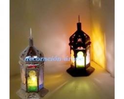 Lámpara árabe arcos marroquíes