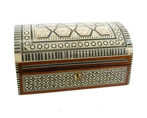 baúl joyero de taracea de Egipto
