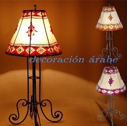 Lámparas piel pintada con henna