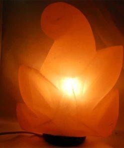 Lámpara sal Himalayas flor