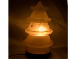 Lámpara de sal de los Himalayas en forma de pagoda