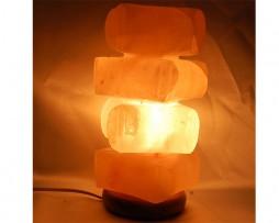 Lámpara de sal de los Himalayas en forma de monticulo