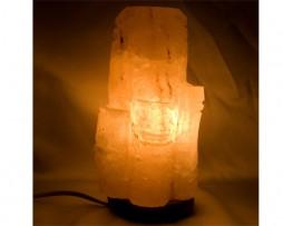 Lámpara de sal de los Himalayas en forma de tronco