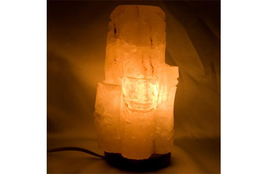 Lámpara sal Himalayas tronco