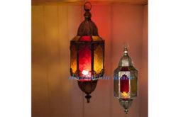 Farol marroquí octogonal mediano