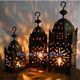 Faroles de hierro forjado marroquís