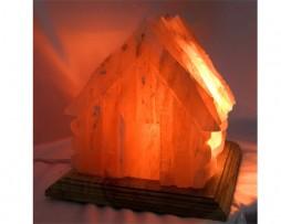 Lámpara de sal de los Himalayas en forma de casa