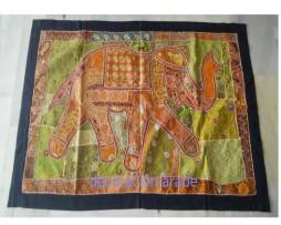 Tapiz india elefante granate
