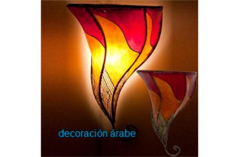 Aplique marroquí de piel pintada con henna