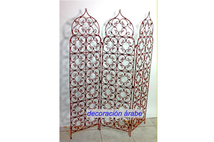 Biombo arabe de tres hojas dos modelos arco y punta - Muebles estilo marroqui ...