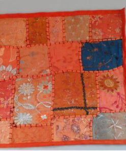 cojín naranja india patchwork