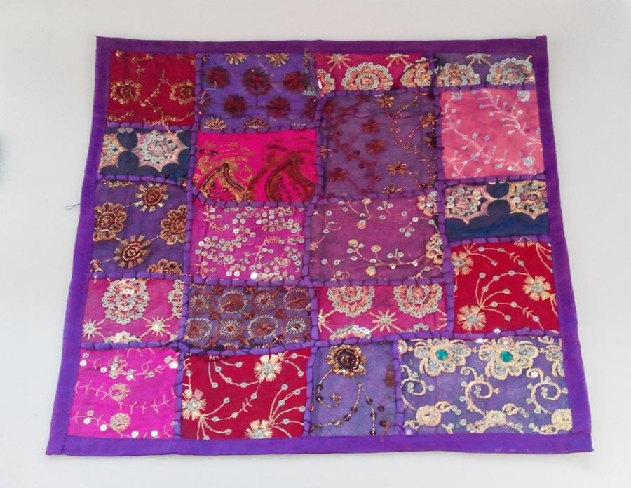 Coj n indio patchwork varios colores decoraci n y artesan a rabe - Cojines indios ...