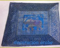 Cojín Indio azul turquesa