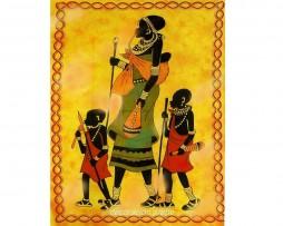 colcha india familia africana, pequeña
