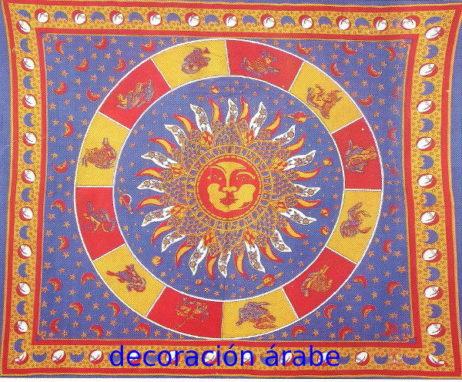 Colcha india zodiaco