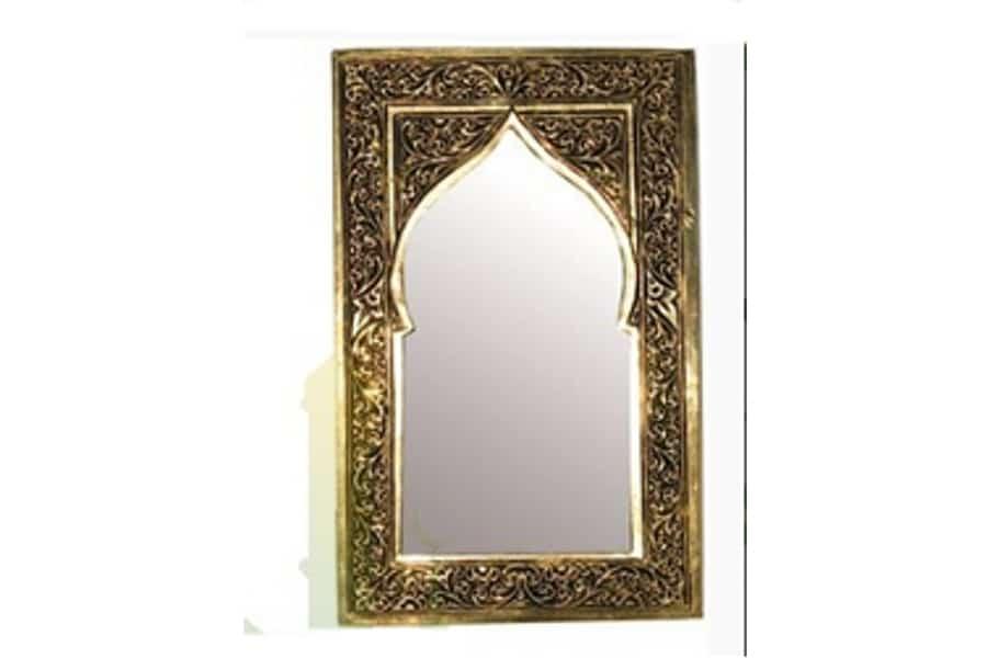 Espejo lat n marroqu dorado decoraci n y artesan a rabe for Espejo dorado bano