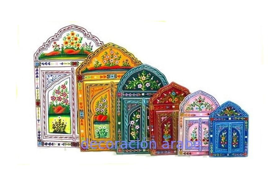 Espejo u00e1rabe madera pintada - Decoraciu00f3n y artesanu00eda u00c1rabe