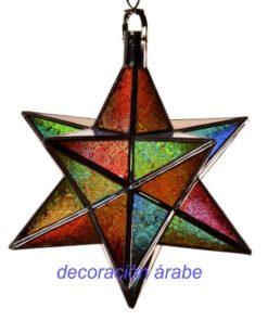 lámpara marroquí puntas