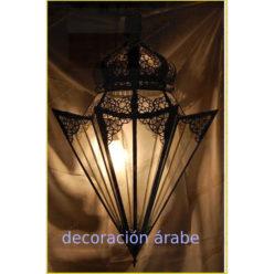 Lámpara árabe marroquí en forma cónica