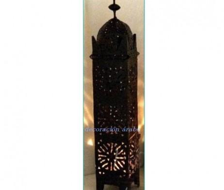 farol hierro forjado marroquí