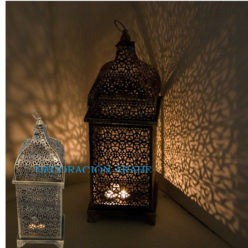 Lámpara marroquí de celosía en bronce