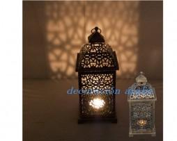 Farol o lámpara marroquí , estilo bronce, cuadrado
