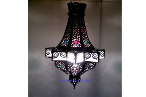 Farol marroquí geometria Lámpara de Marruecos, geometría árabe