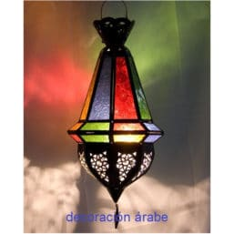 Farol marroquí multicolor