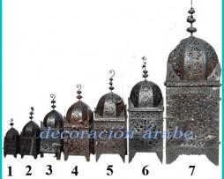 Faroles marroquís hierro forjado