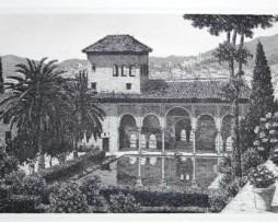 Grabado Jardines del Partal Generalife