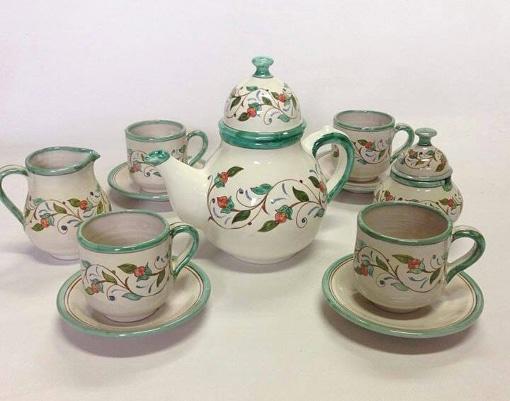 juego té cerámica árabe andaluza