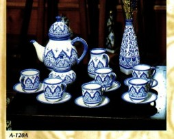 Juego de té, cerámica nazarí