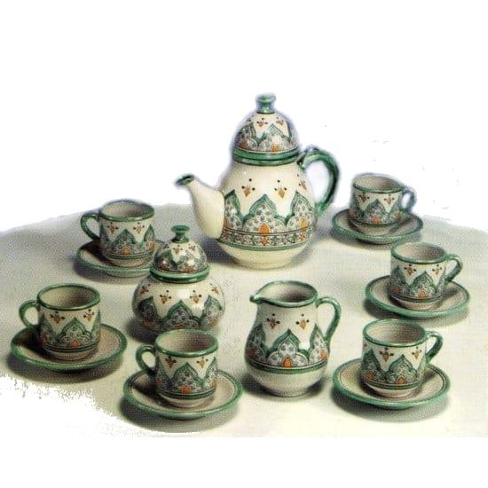 Juego de t completo de color verde de cer mica rabe - Colores de ceramica ...