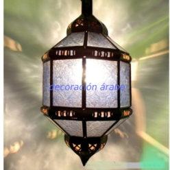 lámpara árabe octogonal azul