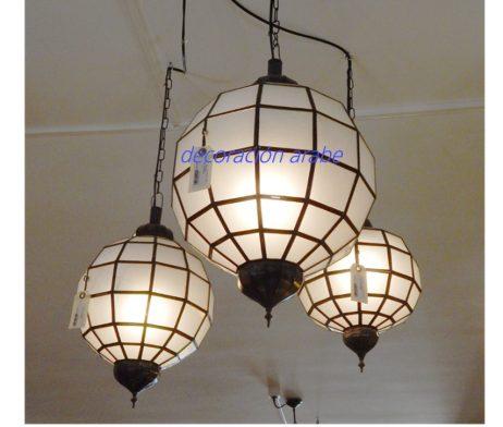 lámpara arabe redonda opaca