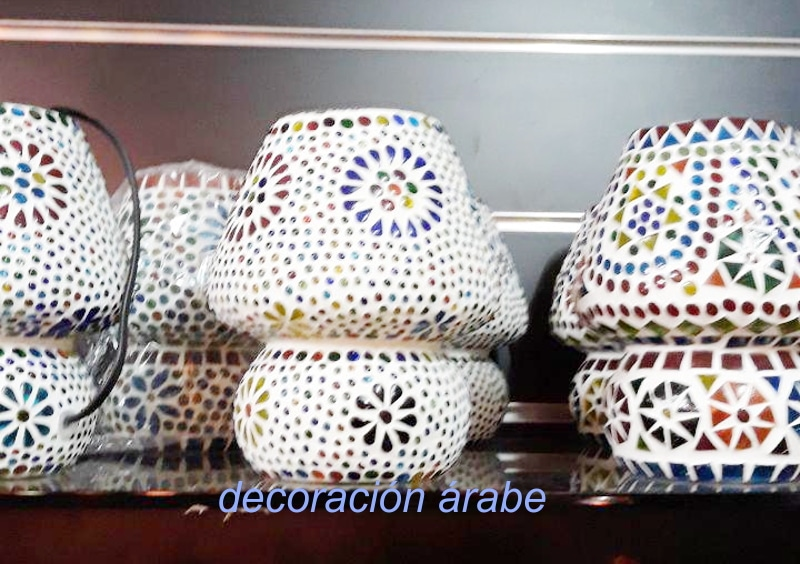 lampara mesa cristal árabe