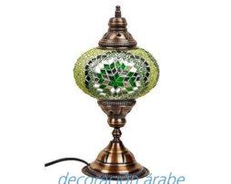 lámpara mesa turca verde