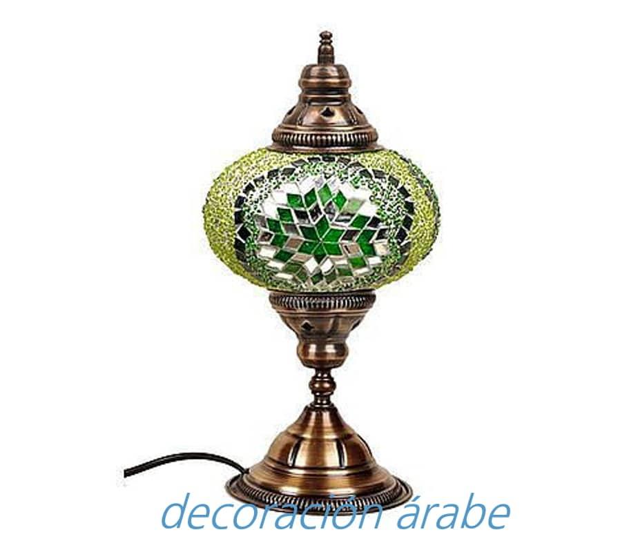 L mpara turca de mesa de cristal de murano - Apliques arabes ...