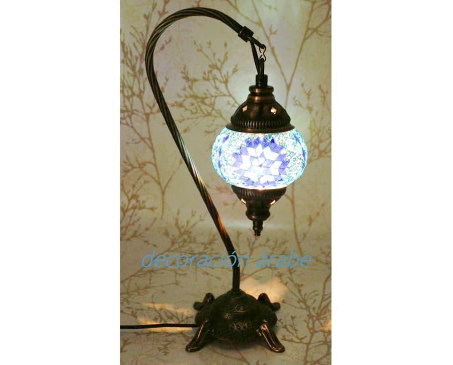 L mpara de mesa turca de cristal de murano con arco modelo 1 for Modelos de lamparas