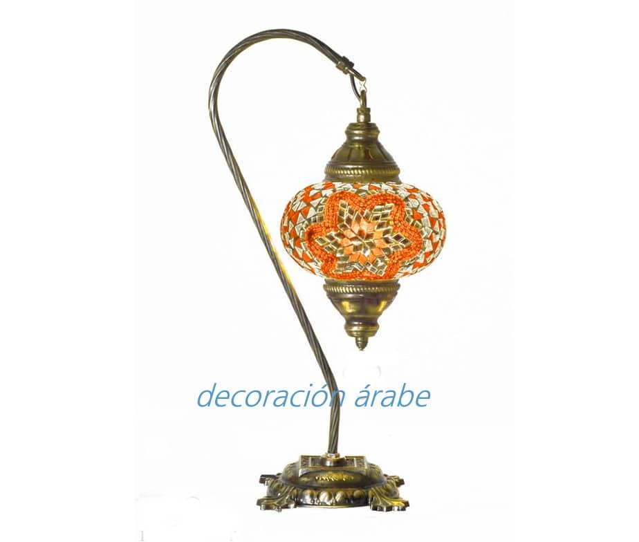 L mpara de mesa turca de cristal de murano con arco modelo 1 - Apliques arabes ...