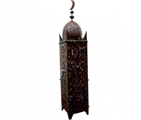 Lámpara marroquí de hierro, alta