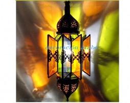 Lámpara marroquí con hojas de cristal