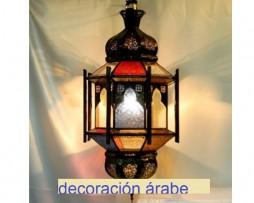 Lámpara marroquí octogonal con arcos