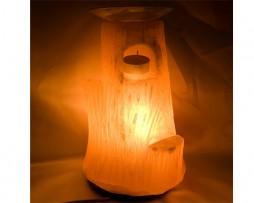 Lámpara de sal, árbol hueco