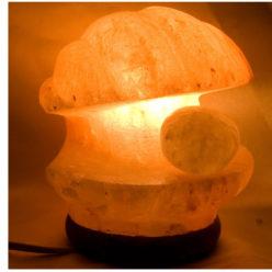 Lámpara de sal concha