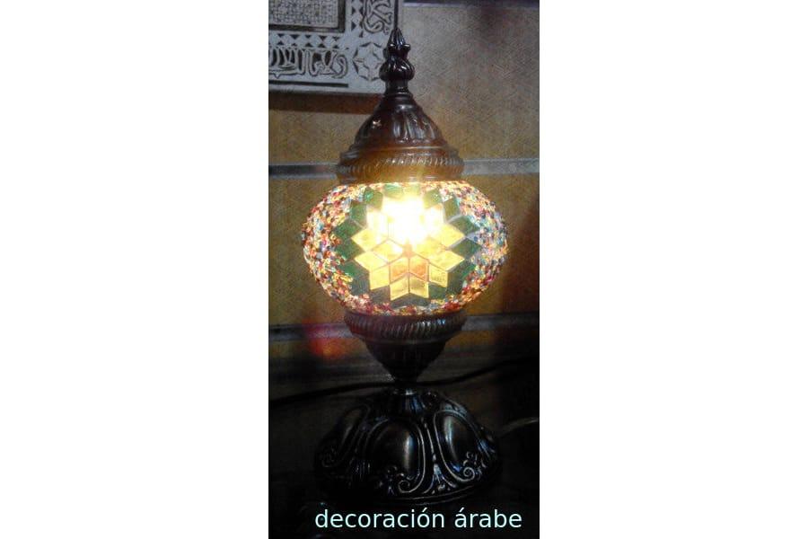 L mpara de mesa de cristal de murano turqu a decoraci n for Lamparas de mesa de cristal