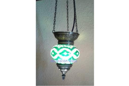 Lámpara turca de cristal de murano, verde