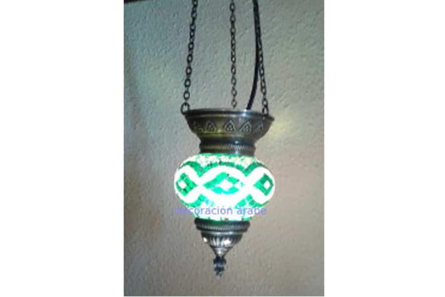 L mpara turca de cristal de murano de techo con forma de - Limpiar lamparas de cristal ...