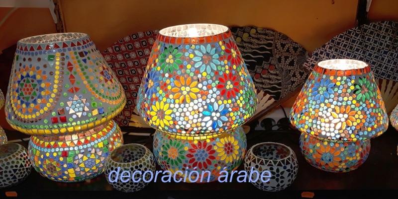 lamparas mesa árabe cristal